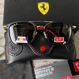 NWT RB3601 Ferrari Metal Frame Sunglasses 51MM